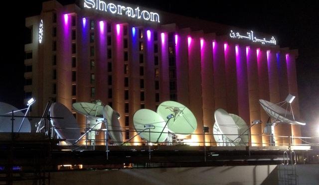 The new Alarab teleport in Manama, Bahrain. Le téléport de la nouvelle chaine de News Alarab Tv
