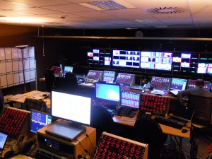 Master control room of BBC Scotland at  Glasgow