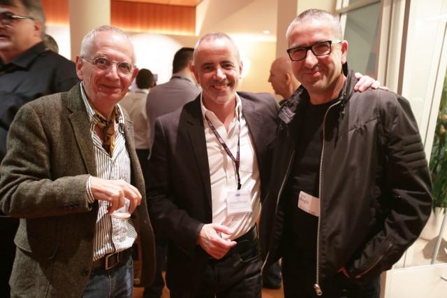 Lancement de l'Alexa 65 à Los Angeles - 9 Dec. 2014, avec le directeur photo Denis Lenoir (AFC ASC); Simon Broad, Président d'Arri Rental et Igor Meglic,  directeur photo (ASC). Copyright : Matt Turve