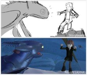 Le travail d'esquisse du long métrage Dragon. copyright : DR.