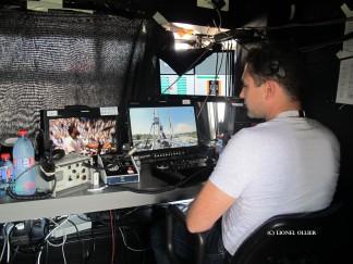 Nicolas Glachant, opérateur de la Shotover F1 sur Cablecam qui traverse tout Roland Garros.