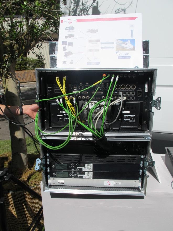 Grille MediorNet de Riedel au service de la réalisation SNG avec le département IXI d'AMP Visual TV.