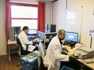 Le département de préparation, nettoyage, étiquetage et analyse des cassettes vidéo.