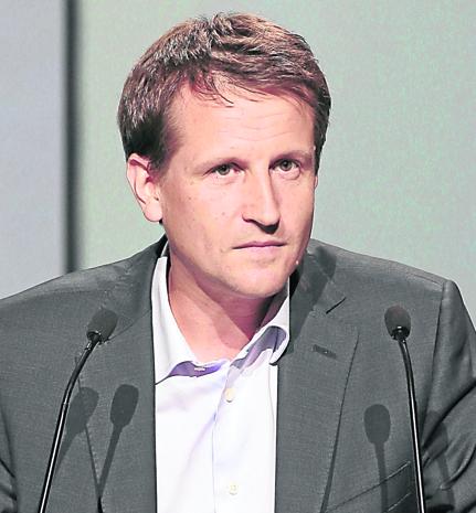 Rodolphe Belmer remplacer Michel de Rosen en mars 2016 à la tête d'Eutelsat. AFP PHOTO / JACQUES DEMARTHON