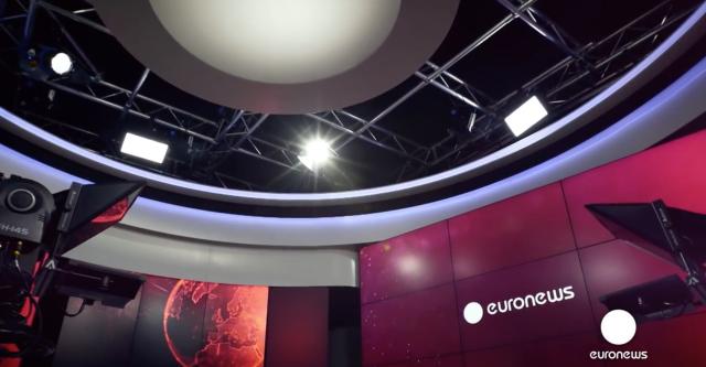 Le nouveau siège social d'Euronews à Lyon avec de nouveaux systèmes graphiques Avid-Orad...