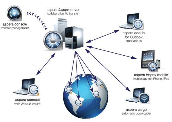 Aspera faspex-network