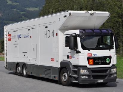Car-régie HD de la chaine SRF