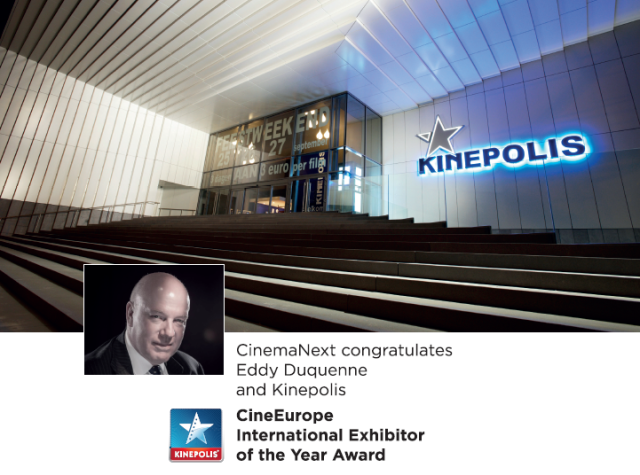 Kinepolis_Eddy Duquenne_CineEurope Award