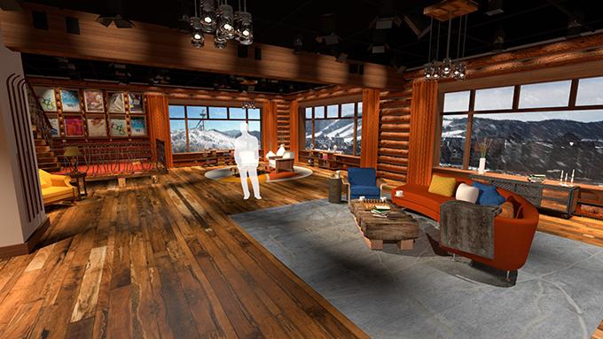 NBC Olympics PyeongChang Games IBC Rooftop Winter Lodge Set