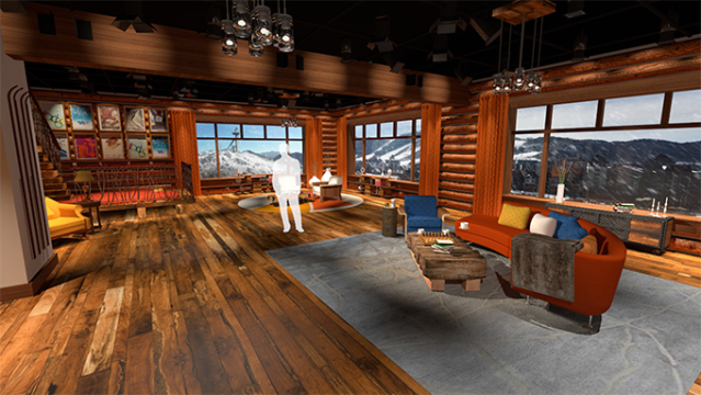 NBC Olympics PyeongChang Games IBC Rooftop Winter Lodge Set
